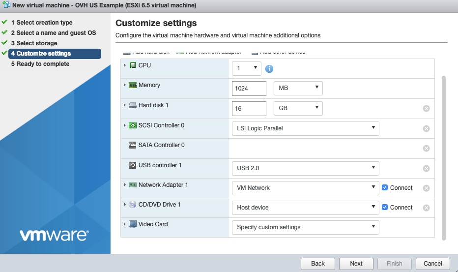 How to Create a VM in VMware ESXi 6 5 – Articles